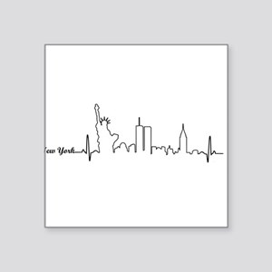New York Heartbeat Letters Sticker
